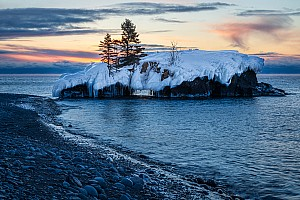 Hollow Rock Winter Sunrise 1