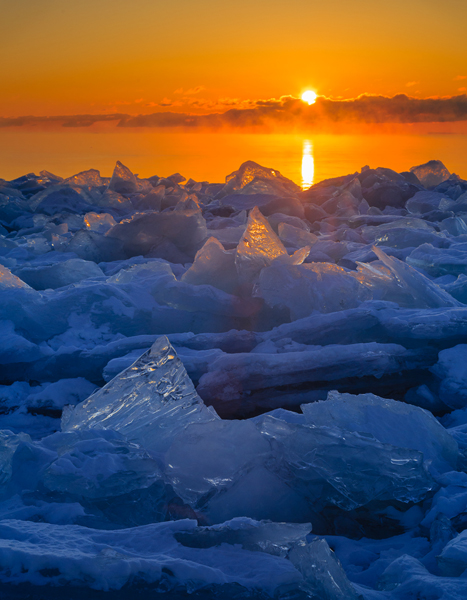 General Category - Second Place: Icy Sunrise