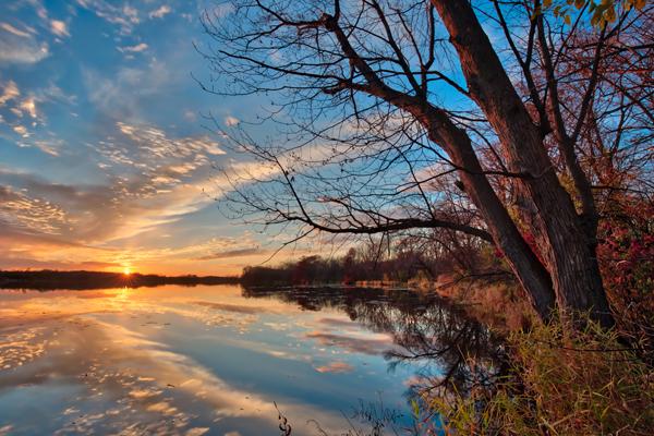 Autumn Sunrise Reflection