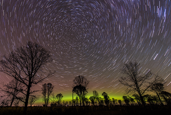 General Category - Second Place: Oak Savanna Star Trails